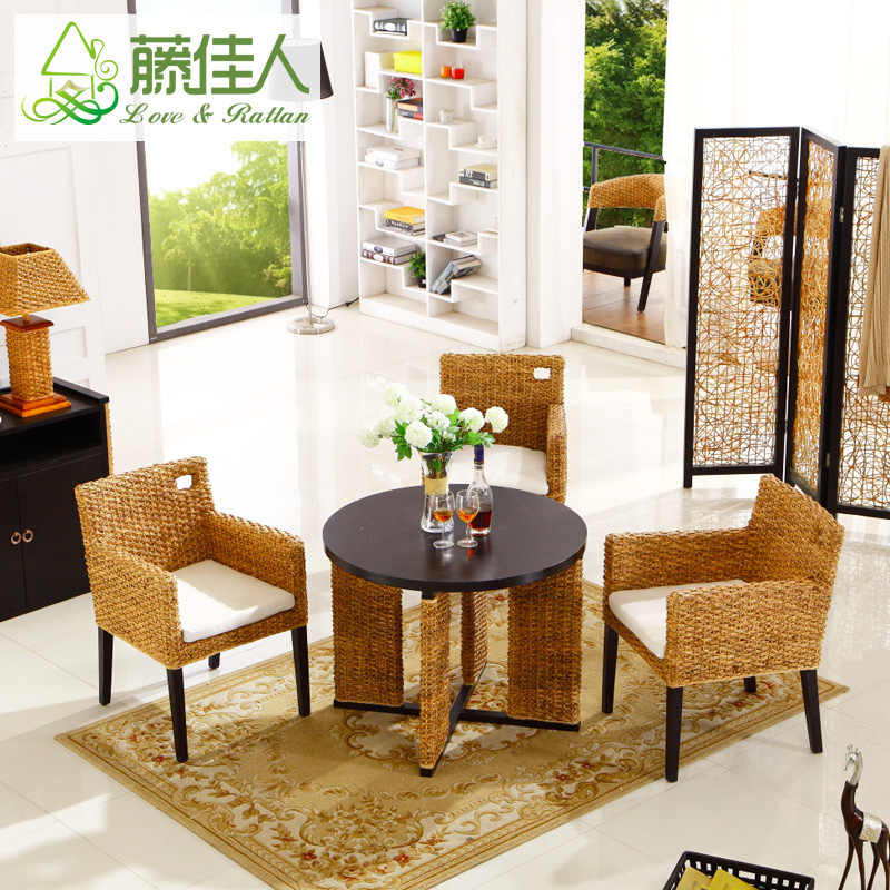 Rattan chair and coffee table three sets of rattan wicker chair lounge chair wood chair lounge chair balcony chairs and coffee tables and chairs wicker chair wicker chair three sets