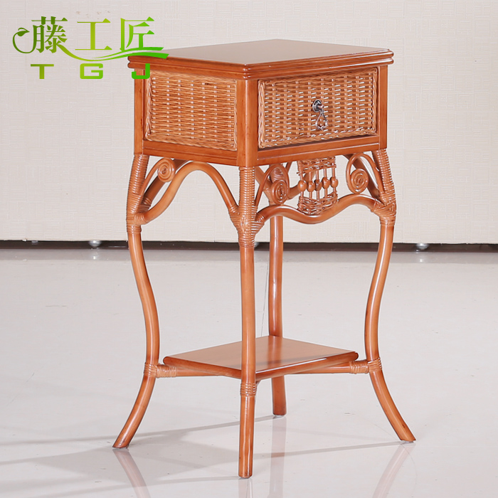 Rattan coffee table special offer tengcha rattan balcony small table side a few corner a few phone zhuojiao taiwan natural rattan furniture