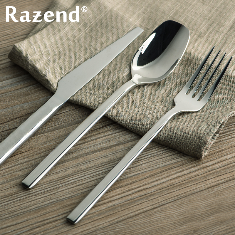 Razend/cutlery set stainless steel steak knife and fork spoon three sets of gifts upscale western cutlery