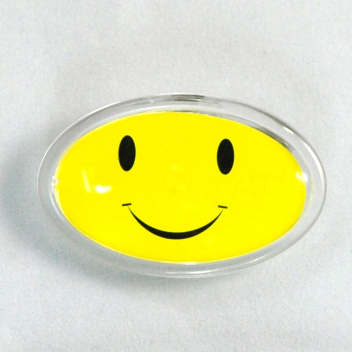 Rbd loaded faster acrylic smiley badges rk10/smile brand/acrylic work card/service card/breastpiece