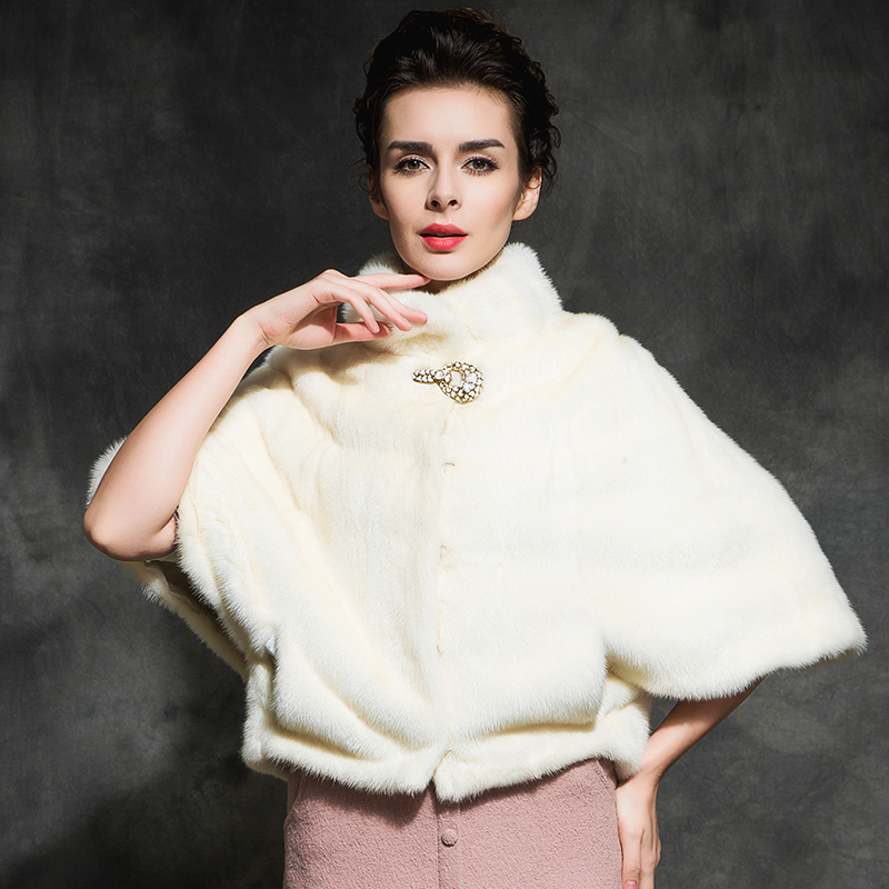 Rbwy/ribet wei yi 2015 new winter fur cape short paragraph female mink coat mink whole mink mink coat