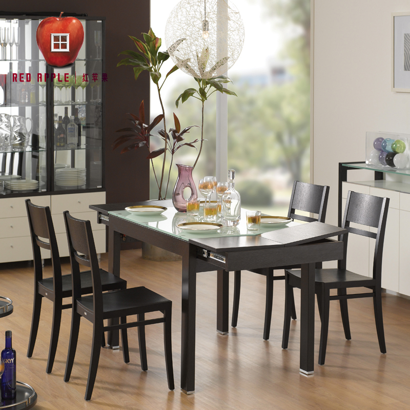 Get Quotations · Red Apple Furniture Minimalist Modern Dining Furniture  Dining Table And Four Chairs Combination Package