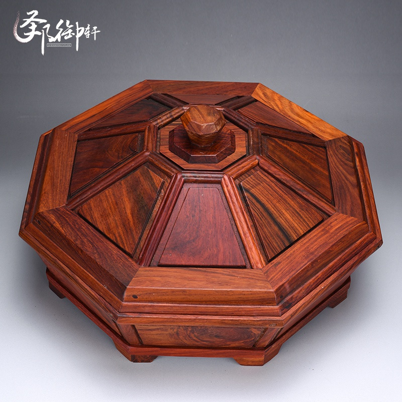 Red rosewood carved mahogany logs compote alone board small pieces of mahogany wood crafts home decoration