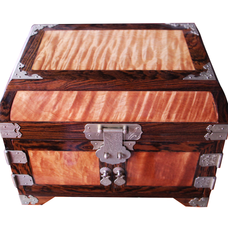 Get Quotations · Redwood Crafts/purple Sandalwood Inlaid Water Ripples Gold  Nan Officer Suitcase/storage Box/