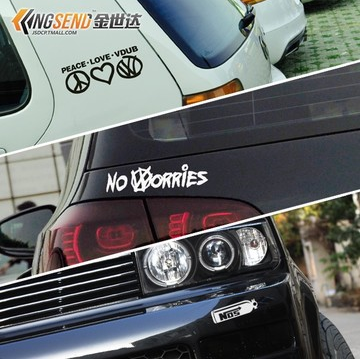 Get quotations · reflective car stickers volkswagen vw golf 6 new jetta cc car stickers personalized body modification stickers