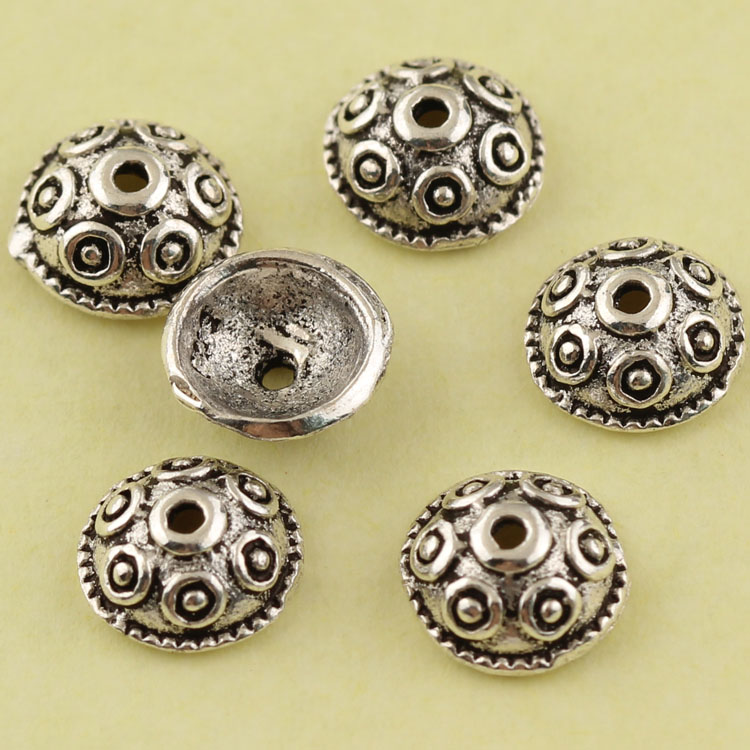 Regards s925 silver thai silver jewelry diy accessories bracelets 108 beads bracelets old silver spacer beads tori passepartout