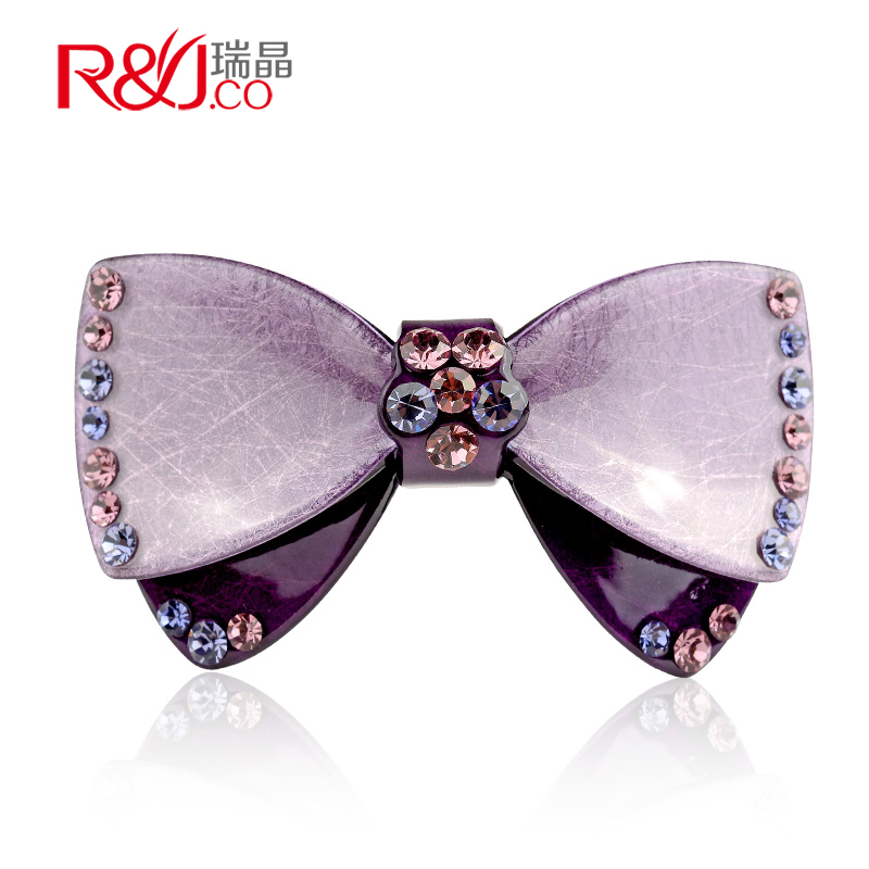 Regin korea rhinestone bow hairpin top folder wild temperament ms. hairpin headdress top folder cross clip spring clip clip