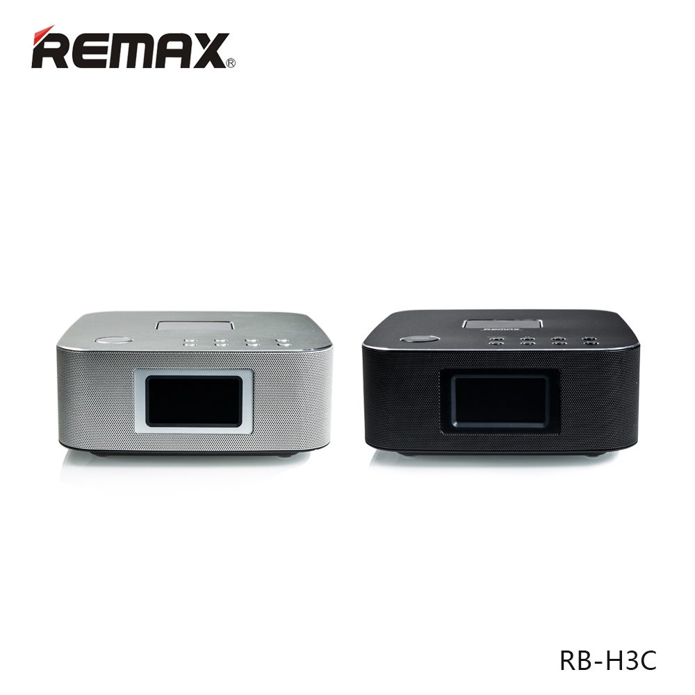Remax RB-H3C intelligent remote bluetooth speaker bluetooth stereo desktop aviation aluminum alloy surface plate black and silver