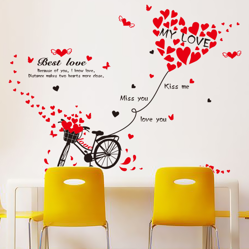 Removable wall stickers romantic love cycling klimts wall living room bedroom tv background decorative painting