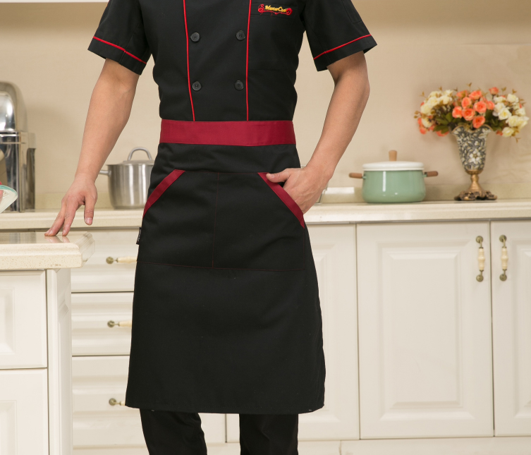 Restaurant chef aprons hotel restaurant kitchen apron apron bust long paragraph short paragraph black work apron bust