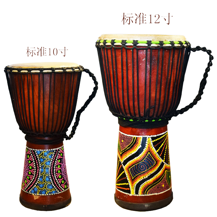 Restricted area shipping wood hollowed out the entire 12 standard 10 inch hardwood sheepskin drum tambourine djembe djembe
