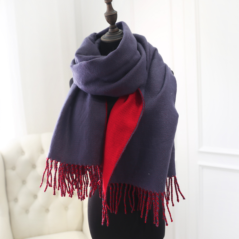 Retro astringent 2015 new korean version of the thick scarf autumn and winter female korean student thick section warm spell color scarf