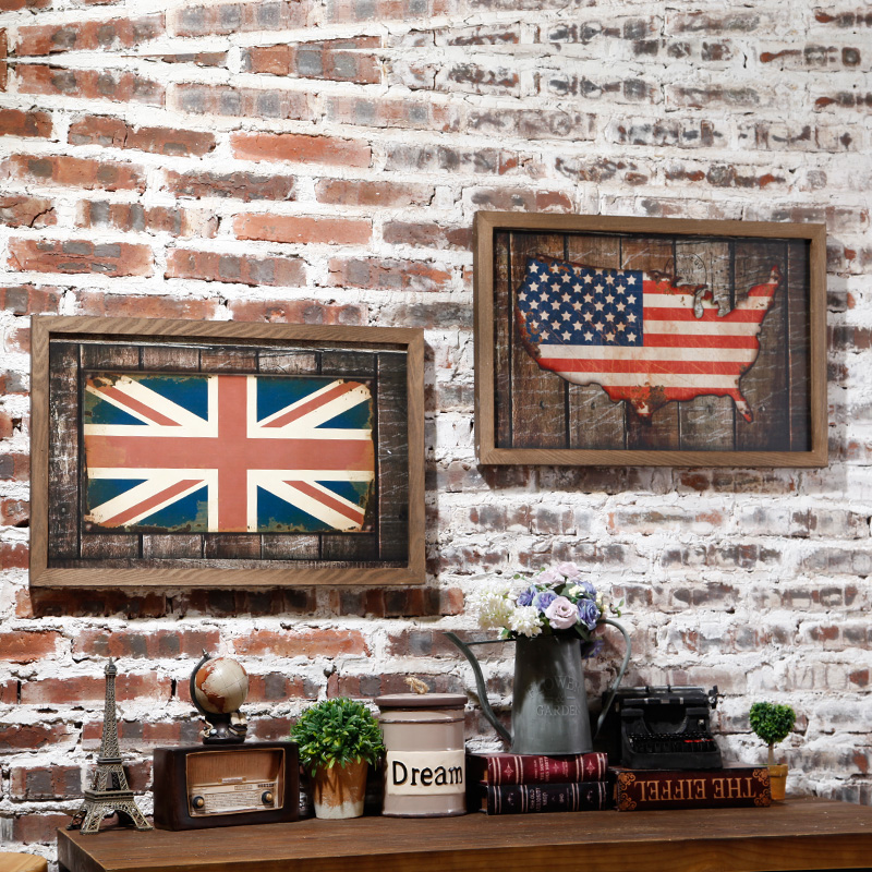 Retro bar american personality living room wall decorations hanging on the wall bar wall paintings indoor home
