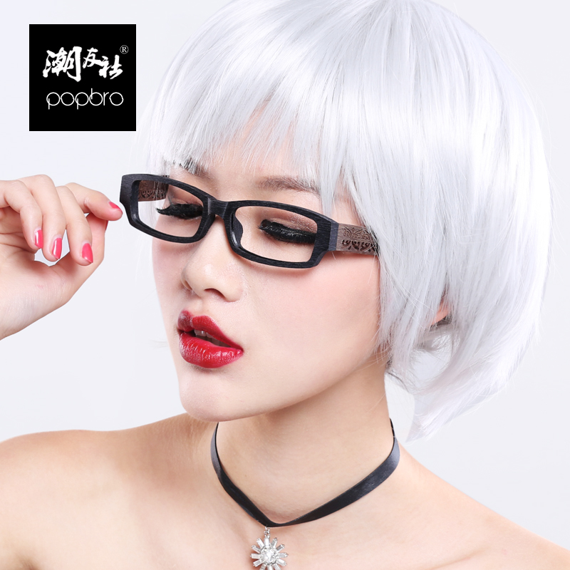 Retro imitation wood box wood frame glasses frame myopia men myopia glasses frame glasses decorated female tide eye glasses plain glass spectacles