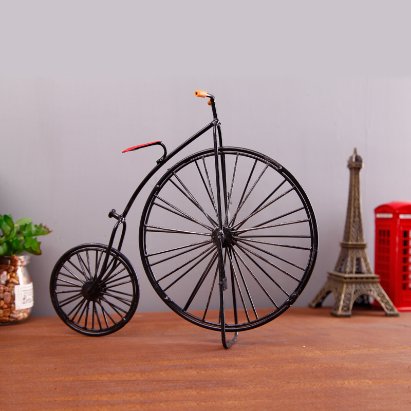 Retro vintage bicycle showcase creative home furnishing the living room soft furnishings decorations desktop crafts wine