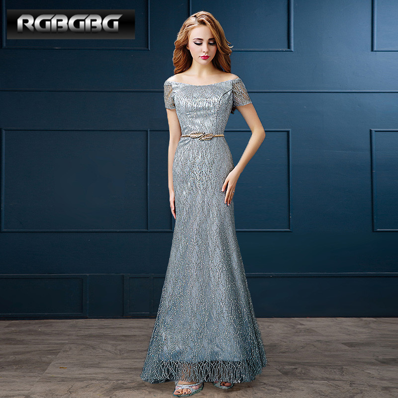 Rgbgbg customized 2016 new fashion word shoulder evening dress long dress toast wedding dress evening gown
