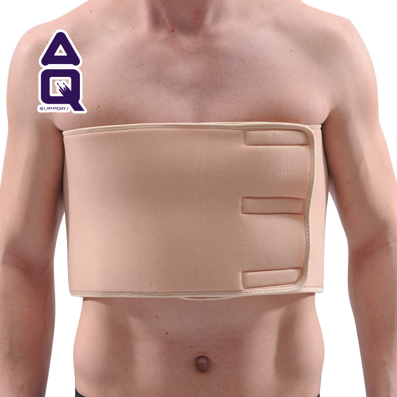 Rib fractures fixed with a chest protector rib aq5321 sports safety muscle strain thoracic fixation alone