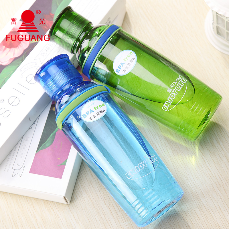Rich light space cup of good water creative fashion plastic water cup portable sports bottle outdoor travel cup