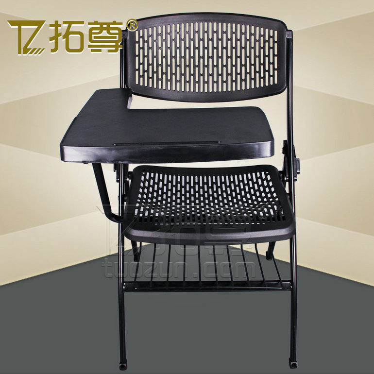 Rio statue large thick folding chair meeting chair can be turned with wordpad training chair staff chair ergonomic office chair