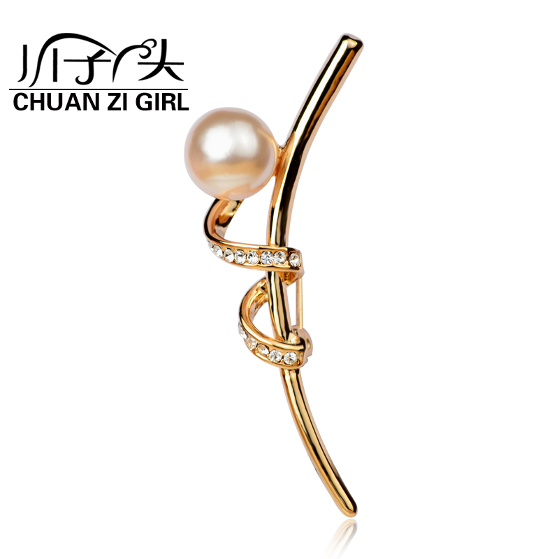 River sub girl brooch female korean fashion jewelry imitation pearl brooch korean wild new fashion elegant