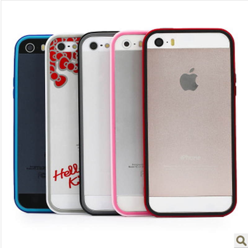 Road swiss apple iphone5/5s phone shell mobile phone sets signal circle silicone ip5SE slim frame pink