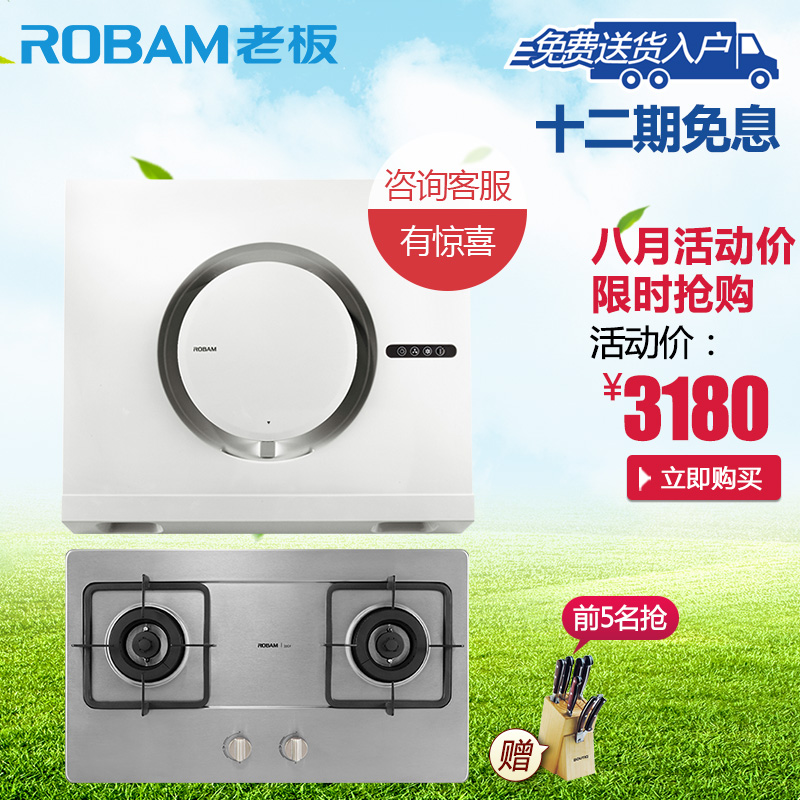 Robam/boss 21x3 + 33g1 side suction hood gas stove smoke stove package suits boss hood