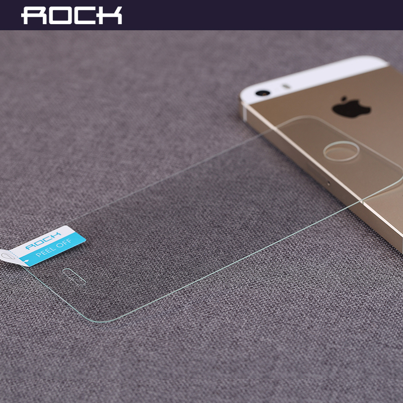 Rock apple 5 s/se/sc-7383 tempered glass membrane film iphone 5c toughened glass membrane anti blu-ray proof steel foil