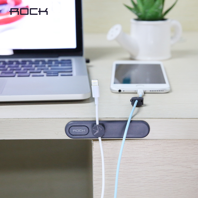 Rock magnetic charging cable data line solid clip office supplies portable storage consolidation car phone small