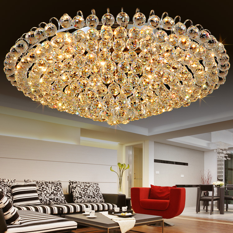 Romantic bedroom lamp crystal lamp living room lamp modern minimalist fashion hall suck ceiling light led lamps lighting