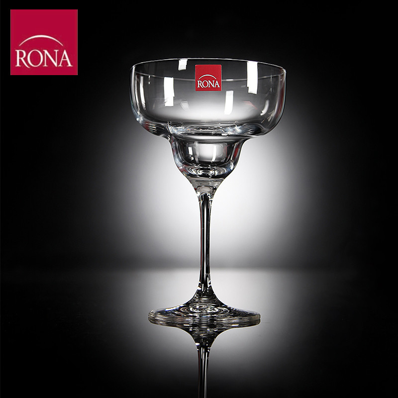 Rona unleaded imported czech crystal margarita cocktail glass goblet of red wine champagne martini cocktail glass cup
