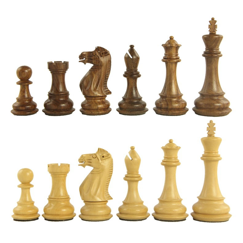 Rosewood boxwood chess tournament dedicated chess pawn with checkerboard suit large three-dimensional