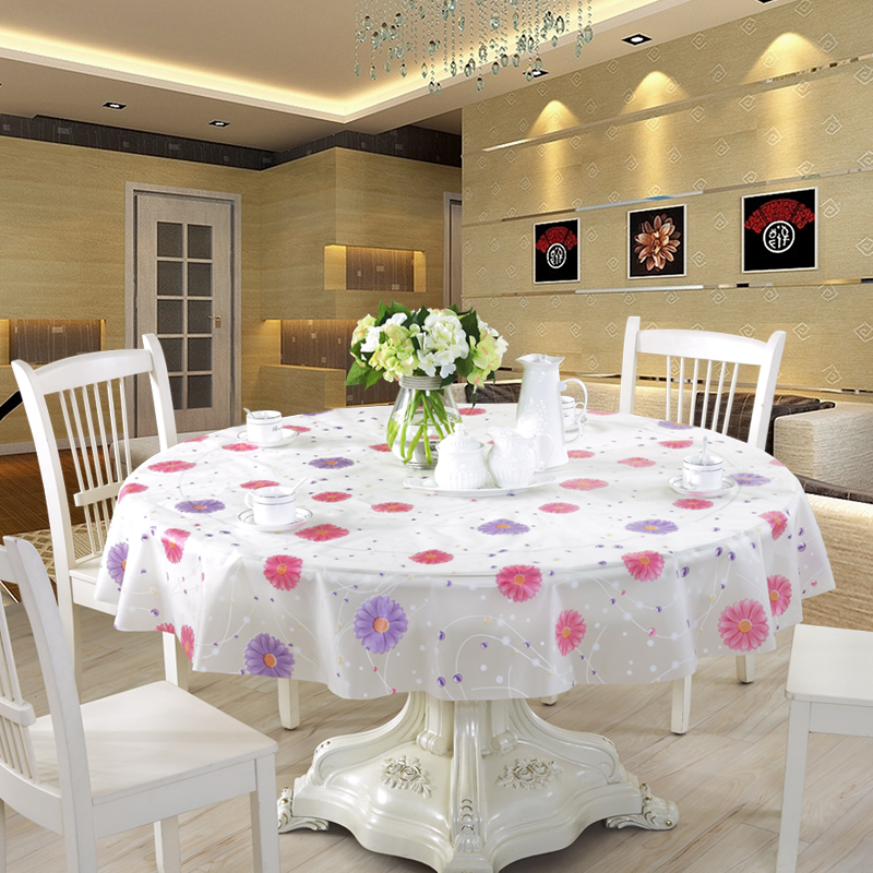 Get Quotations · Round Table Tablecloth Waterproof Oil Disposable Table  Cloth Pvc Plastic Round Square Rectangular Shaped Garden Coffee