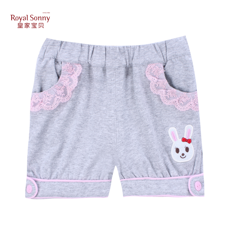 Royal baby girls casual shorts shorts summer female baby infant children summer paragraph counter with paragraph
