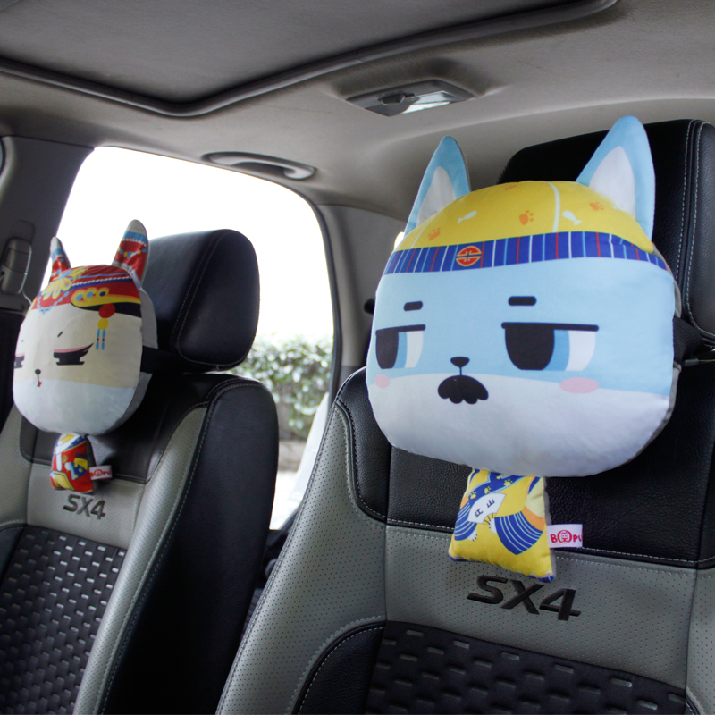 Royal cat cartoon car headrest neck pillow car headrest four seasons pillow neck pillow car pillow neck pillow cute