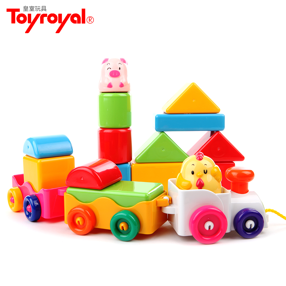 Royal toyroyal thanmonolingualsat series animal building blocks train toy building blocks of 859 with music and lights