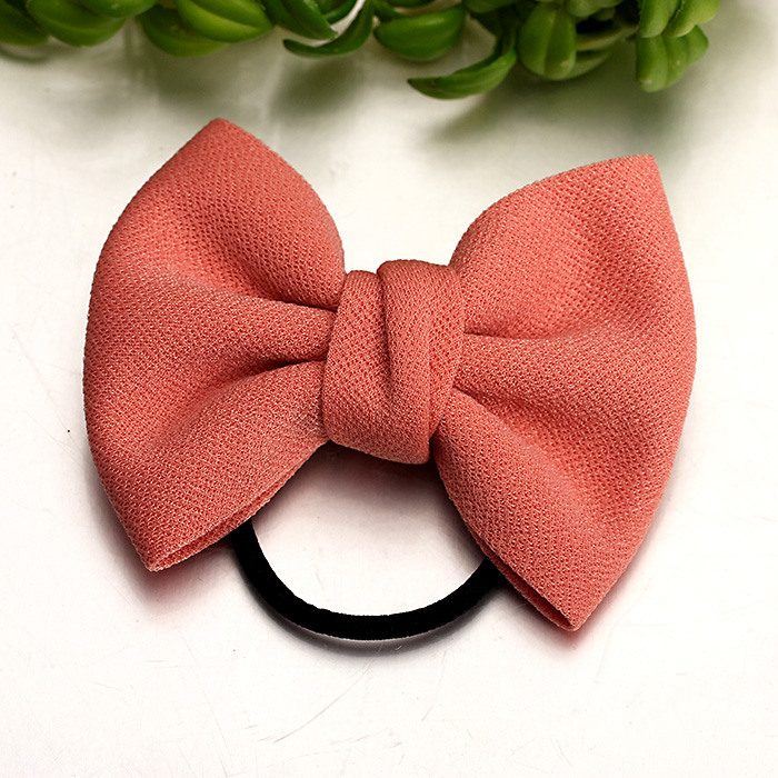 Rui gustavo headdress bow hair accessories hair ring hair rope korean dish made head flower tousheng rubber band ponytail