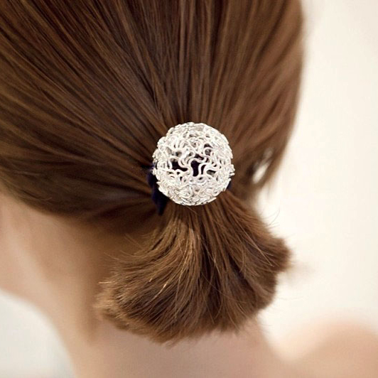Rui gustavo headdress hair accessories ball models golden hollow plate ponytail hair rope tousheng hair rope rubber band hair ring korea
