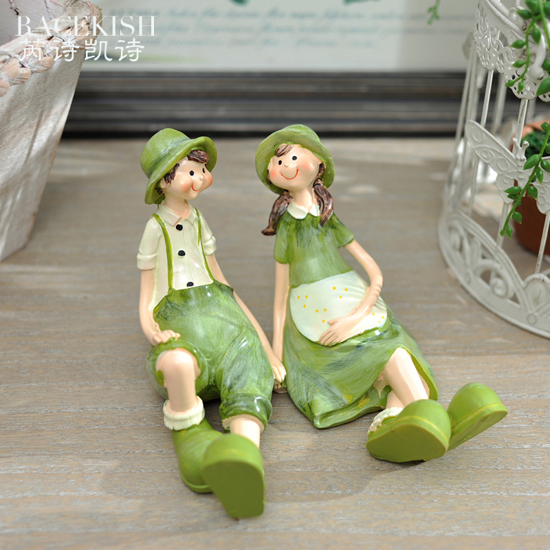 Rui kai poem poetry pastoral style resin ornaments decorations ornaments creative gifts birthday gift couple ornaments suit