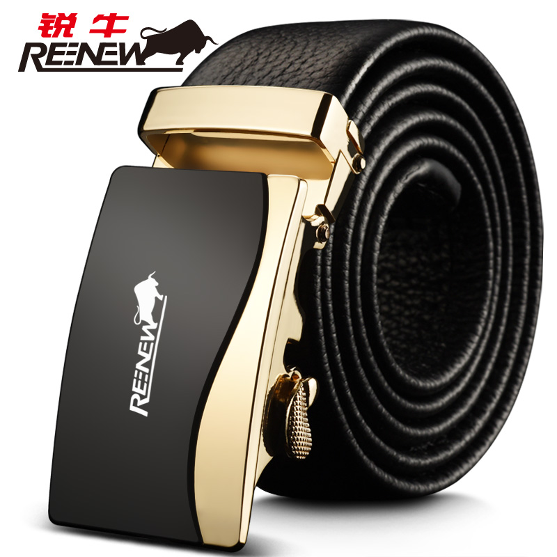 Rui leather belt automatic buckle first layer of leather sportsman young business casual leather belt pure leather belt male