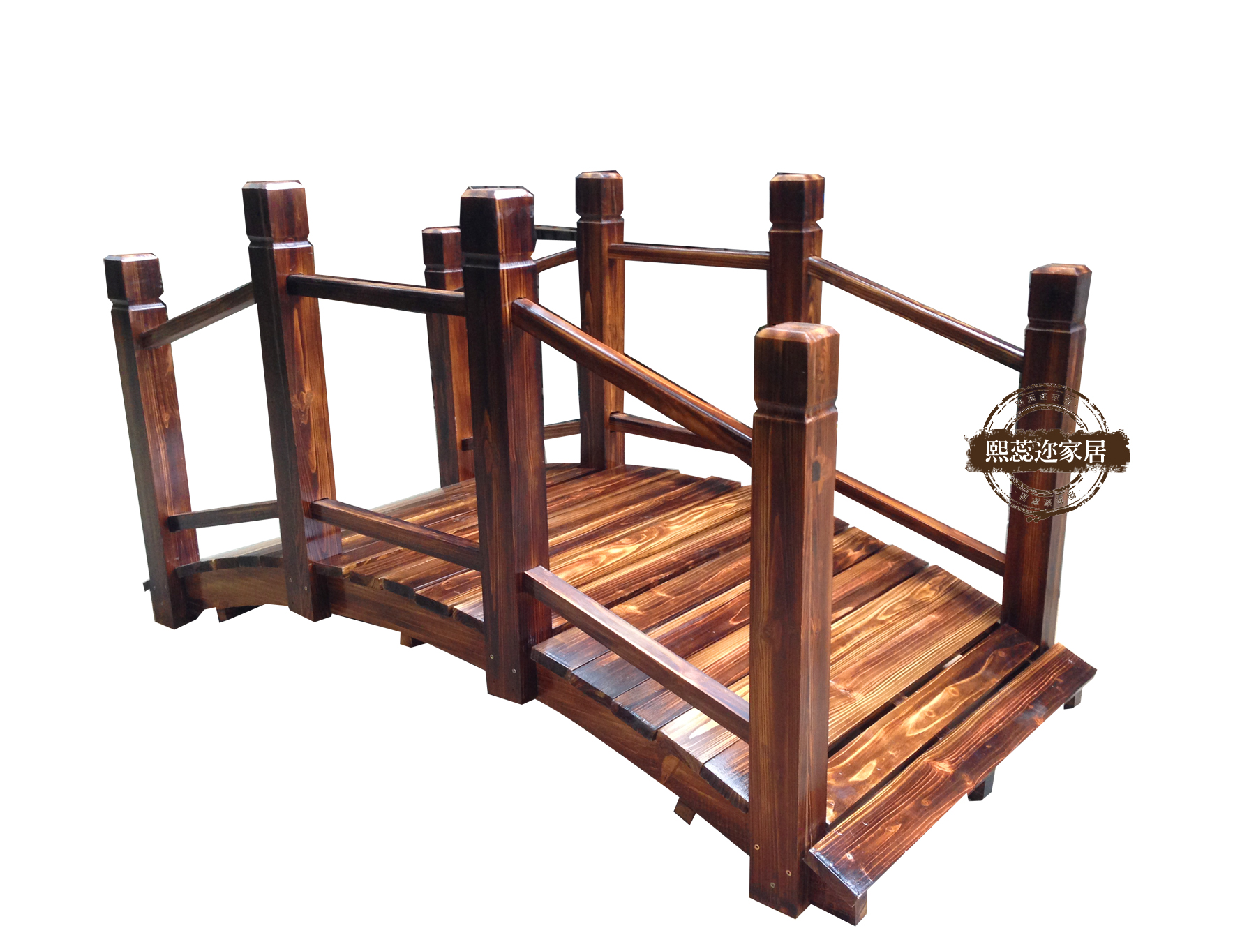 Rui xi er carbonized wood preservative antique wood gazebo bridges bridges the ride ting yuan garden outdoor furniture wood bridge