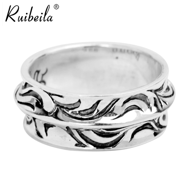 Ruibeila925 silver arabesque pattern in europe and america retro simple thai silver finger ring finger ring men's rings personalized