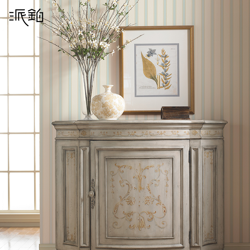 S send platinum pei wo pure paper wallpaper vertical striped wallpaper american pastoral countryside living room backdrop bedroom wall covering ab