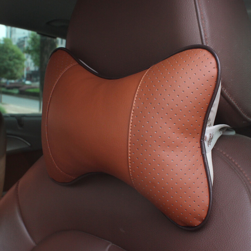 Sail springs have 3AMT automatic transmission leather car headrest car seat headrest pillow car neck pillow sweatband