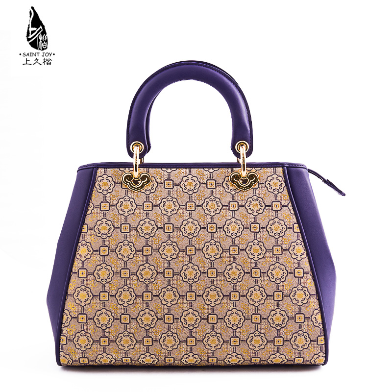 Saintjoy/song jin kai on long ms. bag pattern purple purple circle blessing business ceremony goods