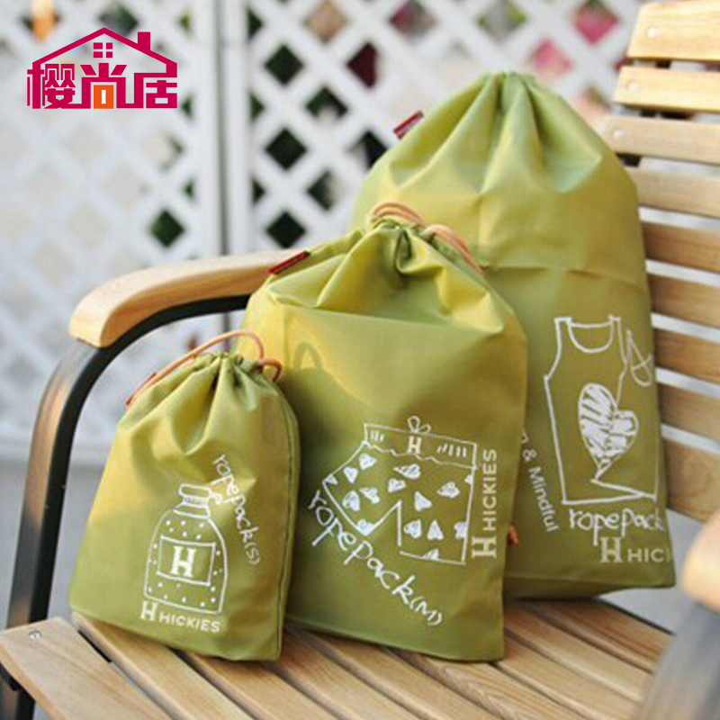 Sakura still ranks waterproof beam port drawstring travel pouch bags of clothes sorting bags oxford cloth bag clothing storage bag