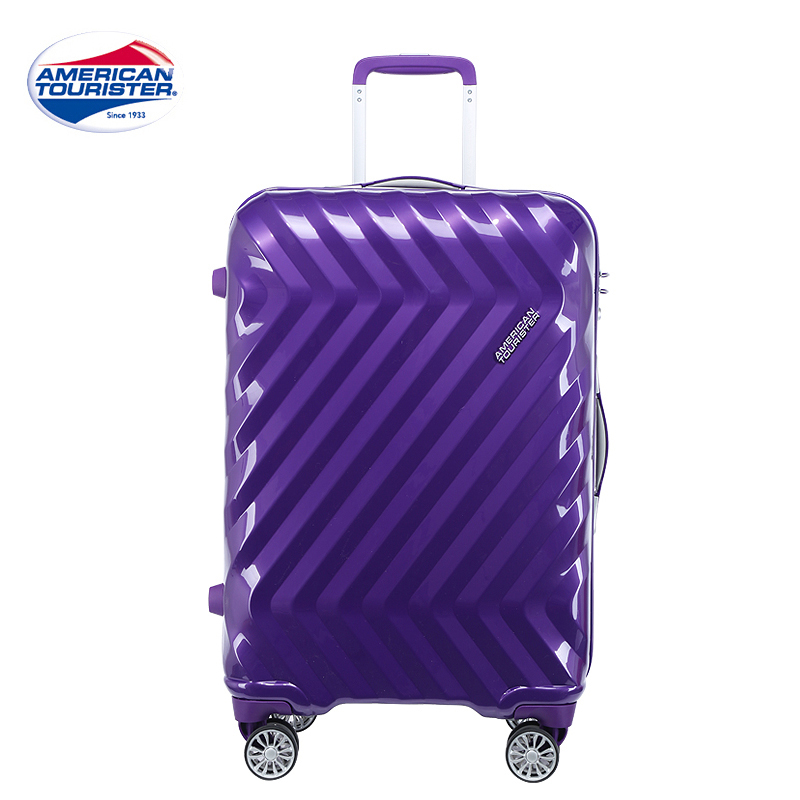 Samsonite/samsonite's us trip i25 mute trolley aircraft wheel suitcase luggage lightweight suitcase