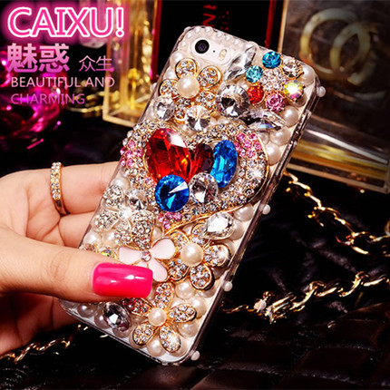 Samsung j7 J710X J7109 protective sleeve mobile phone sets samsung 2016 mobile phone shell love luxury diamond female