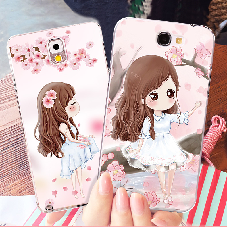 Samsung note2 phone shell mobile phone shell female note3 samsung n7100 n7108 mobile phone sets of silicone protective shell mobile phone sets women
