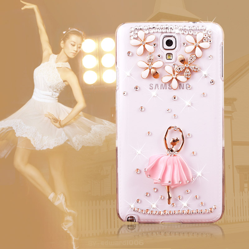 Samsung note3 mini SM-N750 cvd908 cell phone case/5/6/8/v diamond transparent hard shell protective sleeve