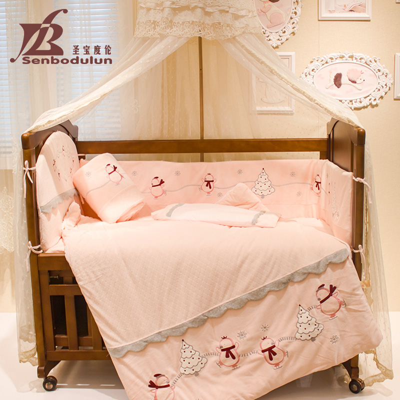 San po lun degree counter genuine baby crib bedding qi jiantao washable baby bedding package